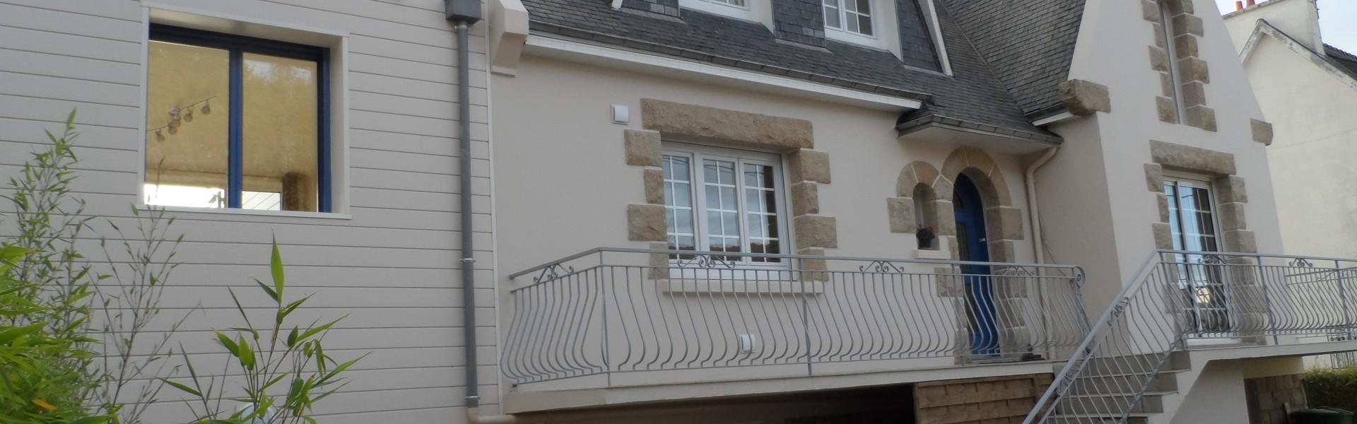 Agrandissement Maison Néo Bretonne rénovation et extension d'une maison néo-bretonne - guilbaud sas